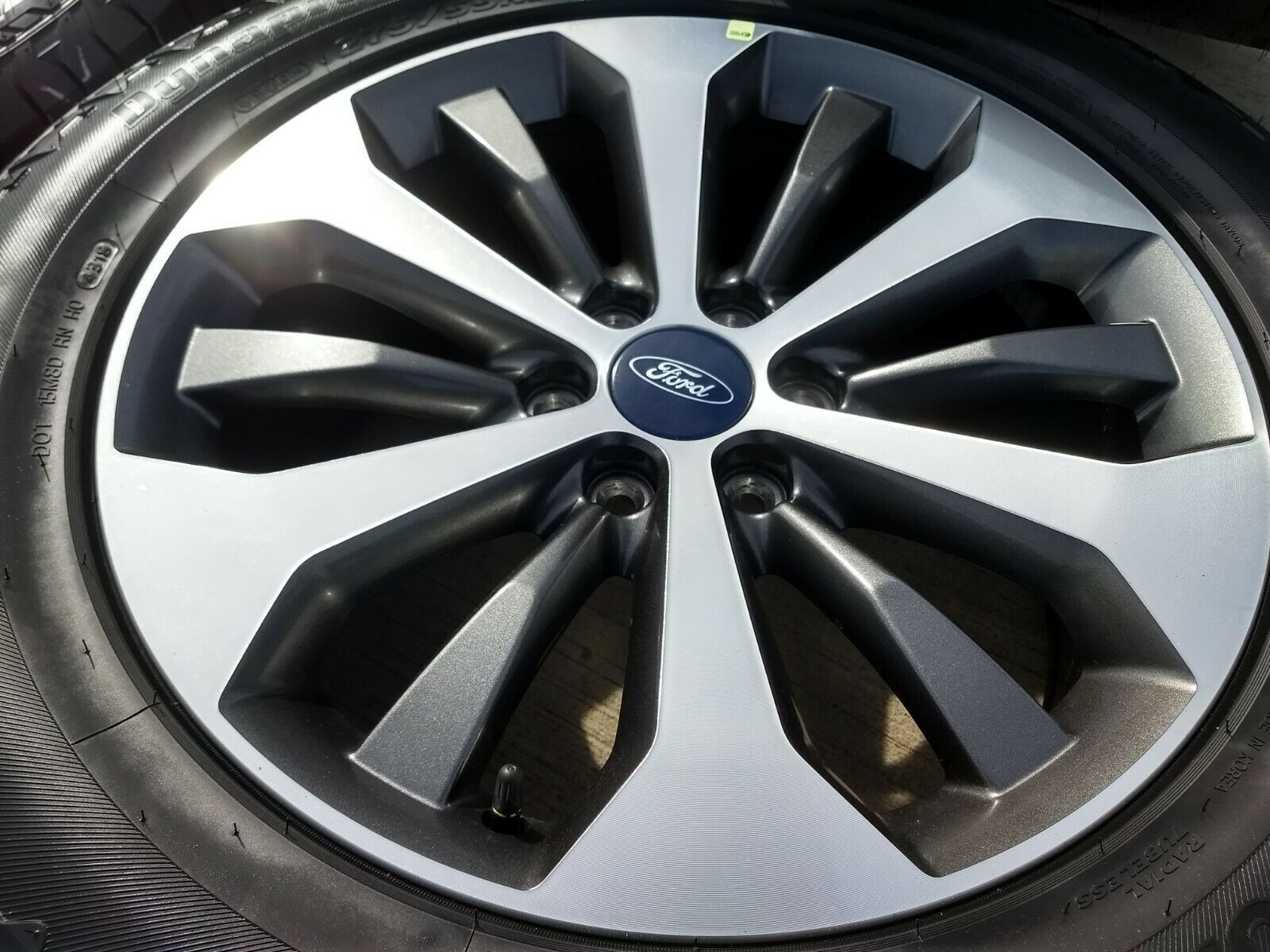 ford    charcoal  machined oem wheels
