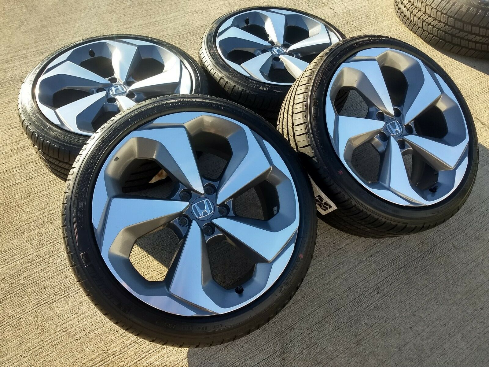 honda accord touring  oem gray  machined wheels